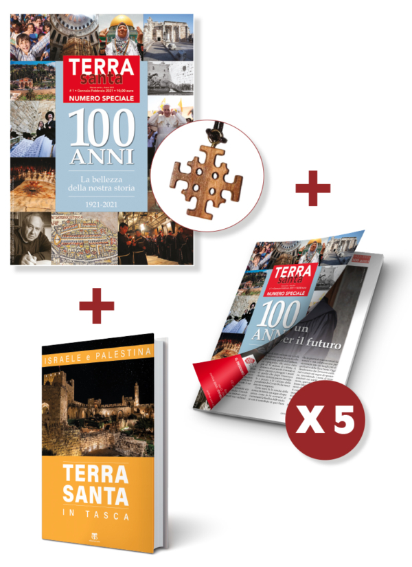 Terrasanta 1/2021 + Abbonamento rivista + Croce + Terra Santa in tasca