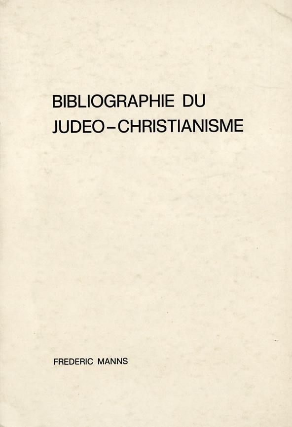 Bibliographie du Judeo-Christianisme - Frédéric Manns