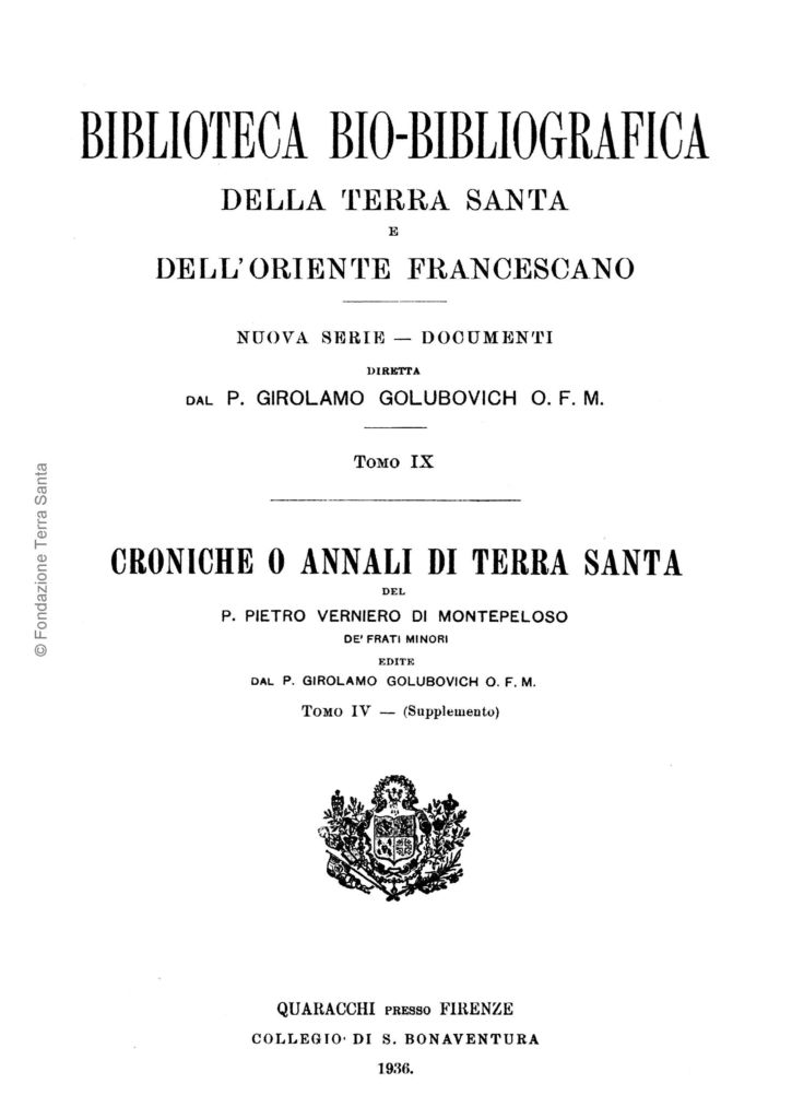 Biblioteca bio-bibliografica/serie II (Documenti) – tomo IX - Girolamo Golubovich