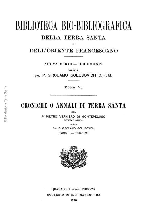 Biblioteca bio-bibliografica/serie II (Documenti) – tomo VI - Girolamo Golubovich