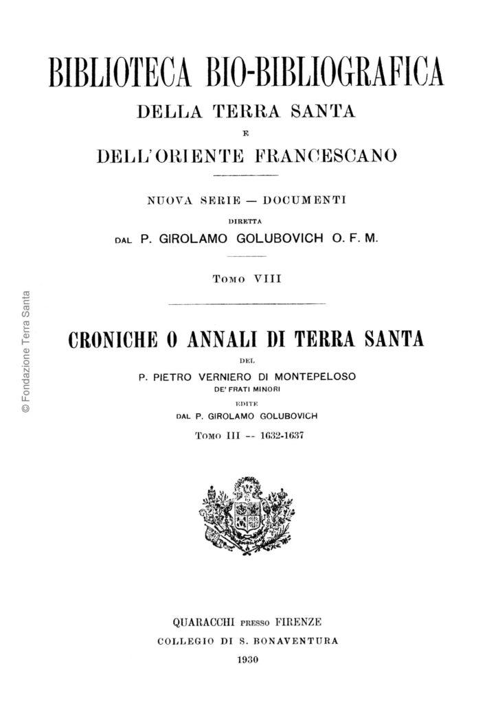 Biblioteca bio-bibliografica/serie II (Documenti) – tomo VIII - Girolamo Golubovich