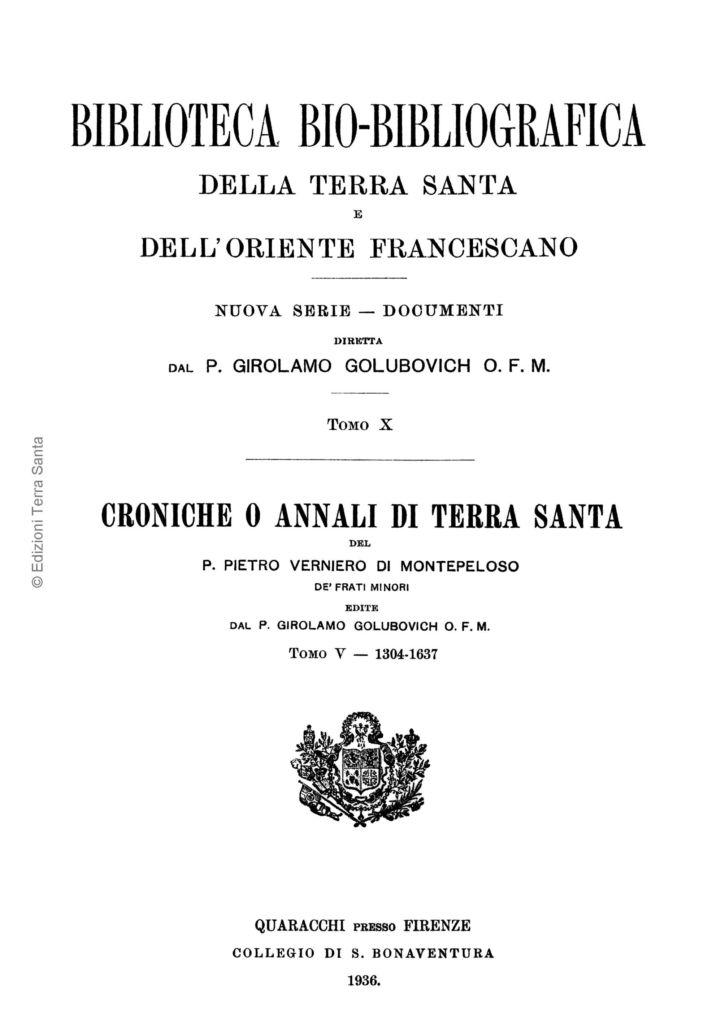 Biblioteca bio-bibliografica/serie II (Documenti) – tomo X - Girolamo Golubovich