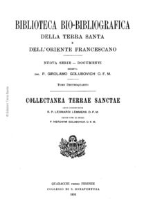 Biblioteca bio-bibliografica/serie II (Documenti) – tomo XIV - Girolamo Golubovich
