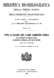 Biblioteca bio-bibliografica/serie II (Documenti) – tomo III