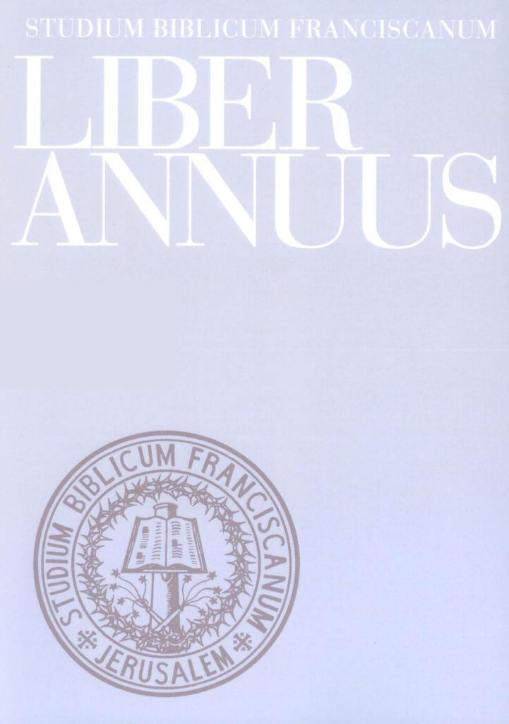 Liber Annuus XVI-1966 (ristampa anastatica)