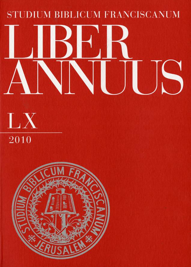 Liber Annuus LX-2010