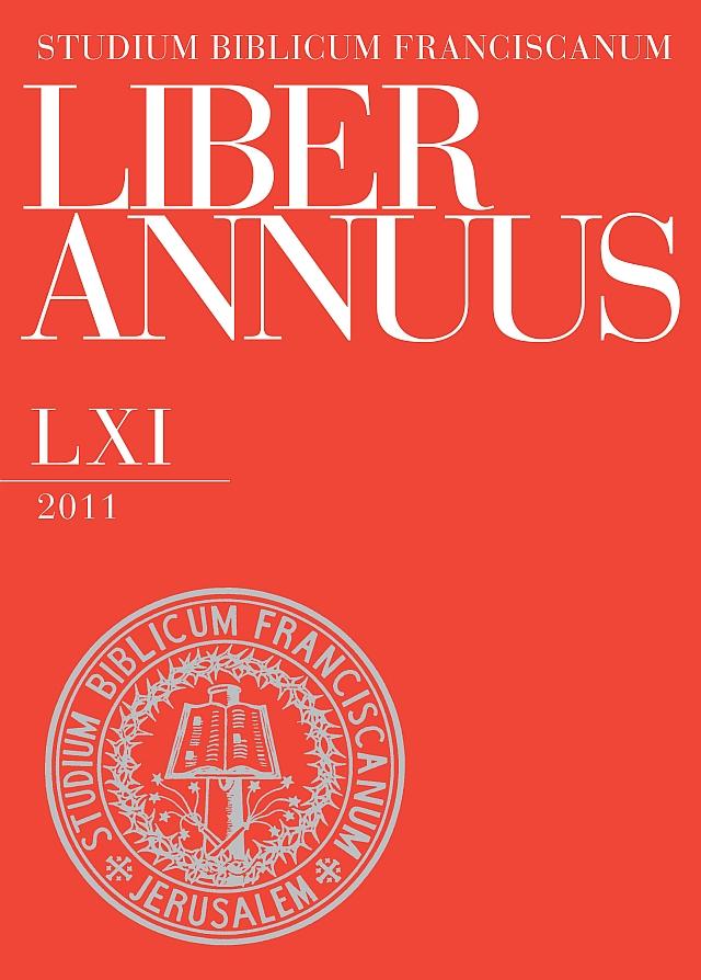 Liber Annuus LXI-2011