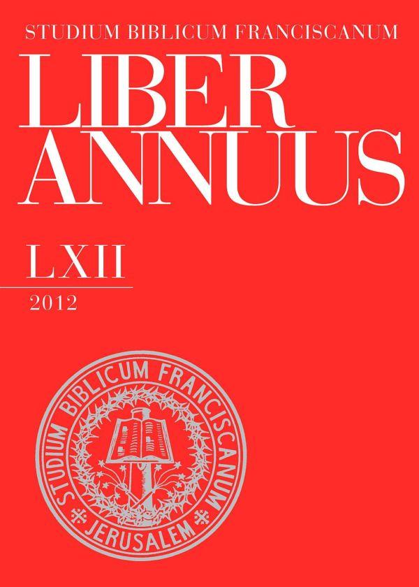 Liber Annuus LXII-2012