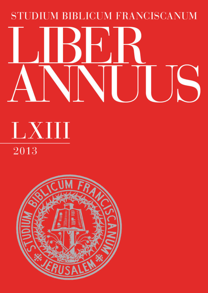 Liber Annuus LXIII-2013