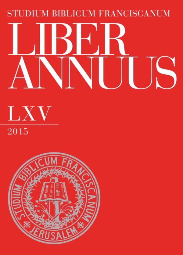 Liber Annuus LXV-2015