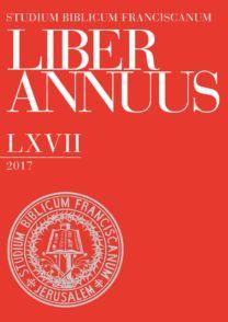 Liber Annuus LXVII-2017