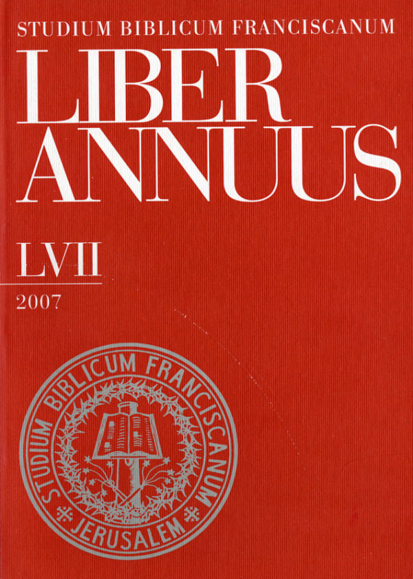 Liber Annuus LVII-2007