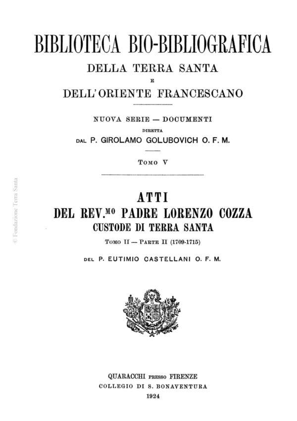 Biblioteca bio-bibliografica/serie II (Documenti) – tomo V