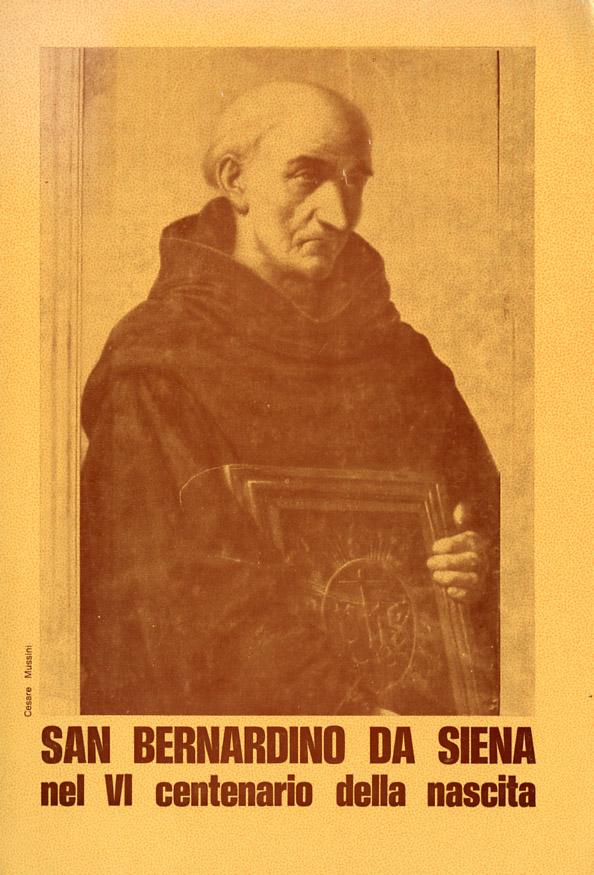 San Bernardino da Siena nel VI centenario della nascita