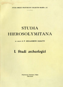 Studia hierosolymitana in onore di p. Bellarmino Bagatti-I