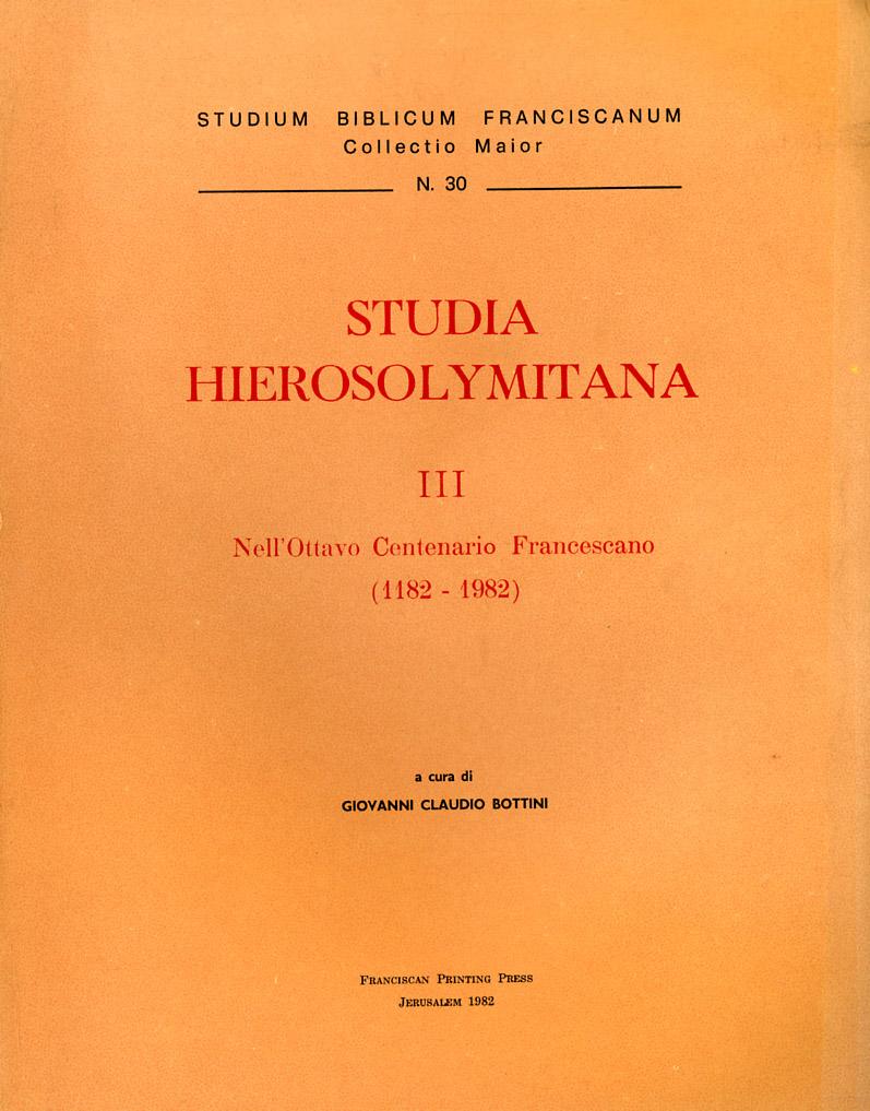 Studia hierosolymitana III