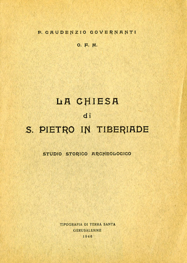 La chiesa di S. Pietro in Tiberiade - Gaudenzio Governanti