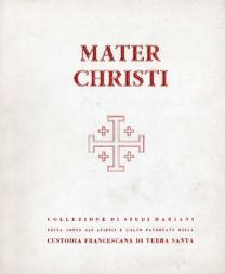 Mater Christi – Collezione di studi mariani