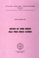 Sintassi del verbo nella prosa biblica classica - Alviero Niccacci