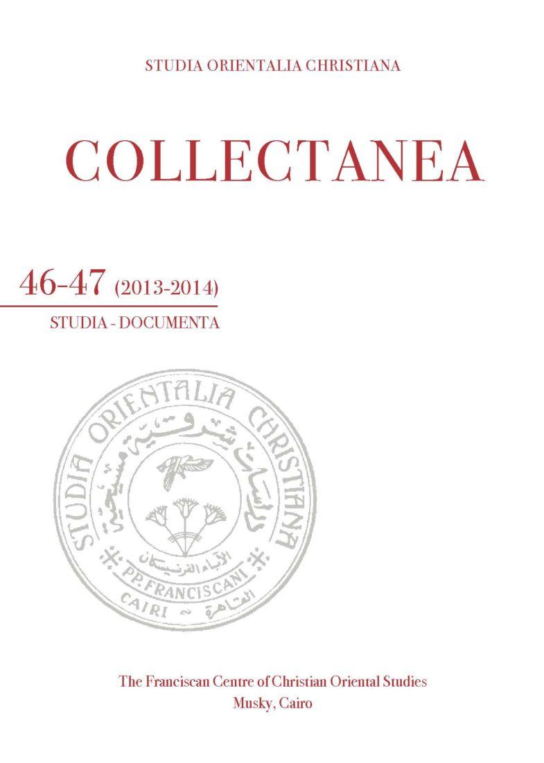 SOC – Collectanea 46-47 (2013-2014)