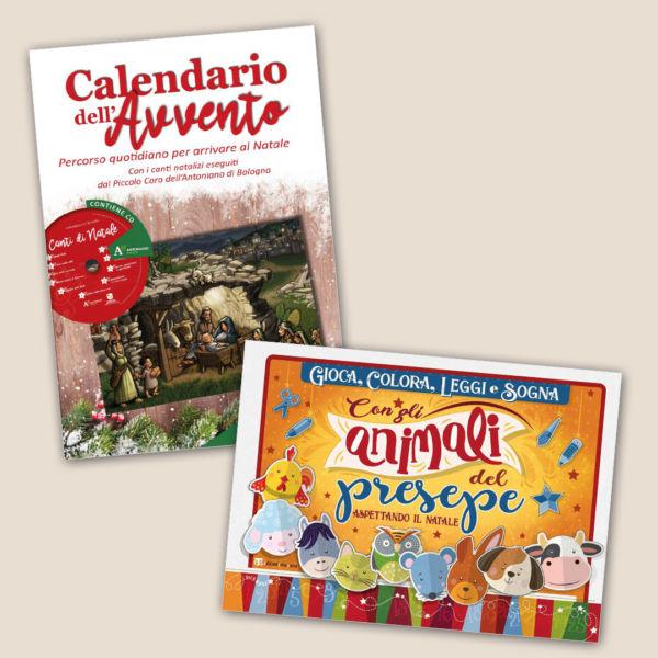 Calendario dell'Avvento (con CD) + Gioca, colora, leggi e sogna con gli animali del presepe