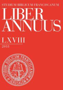 Liber Annuus LXVIII-2018