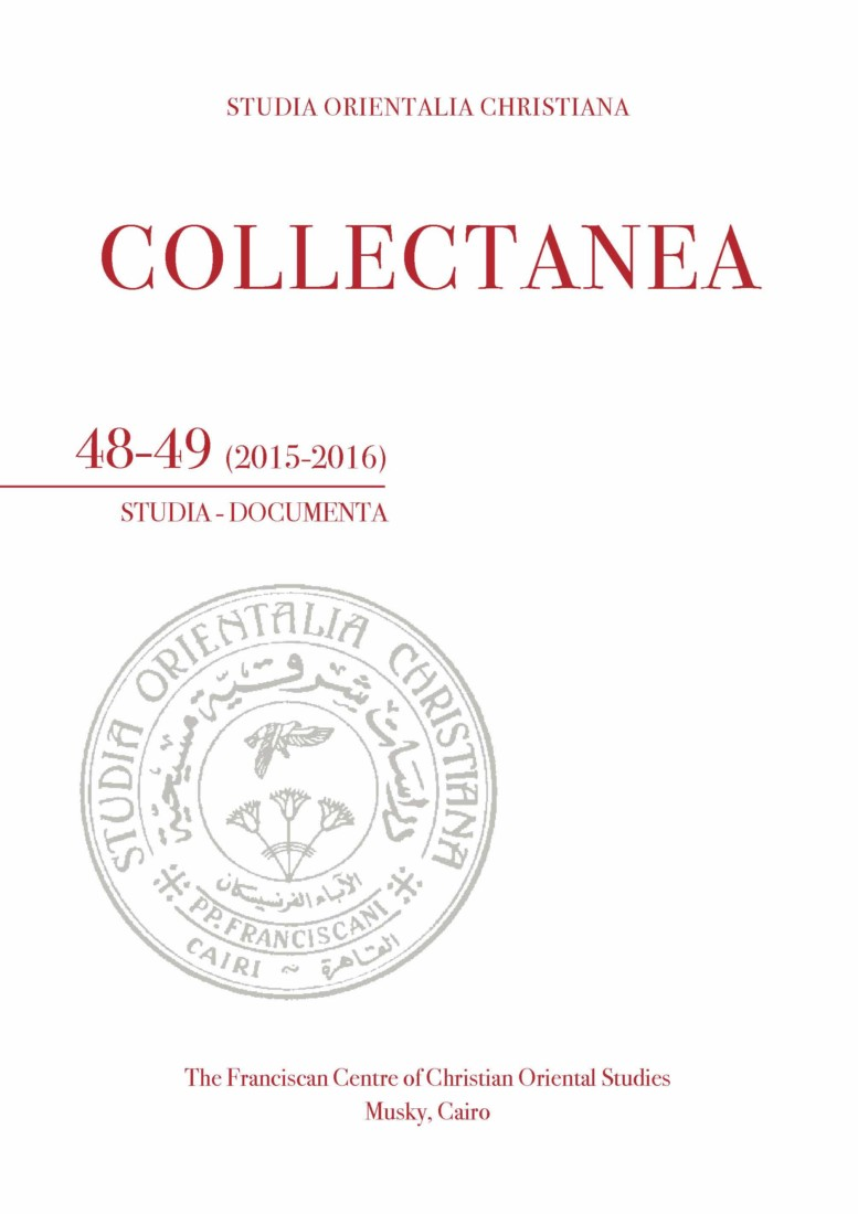 SOC – Collectanea 48-49 (2015-2016)