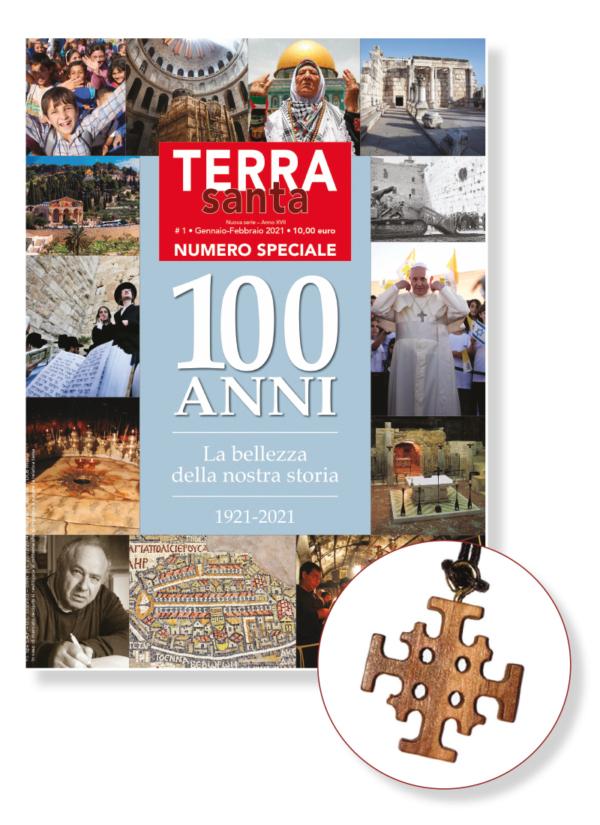 Rivista cartacea Terrasanta 1/2021 + Croce