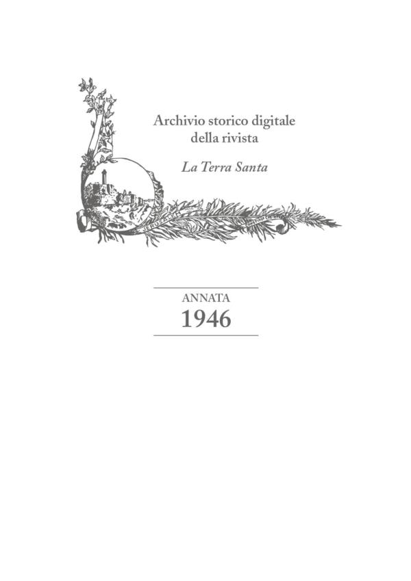 La Terra Santa – annata 1946