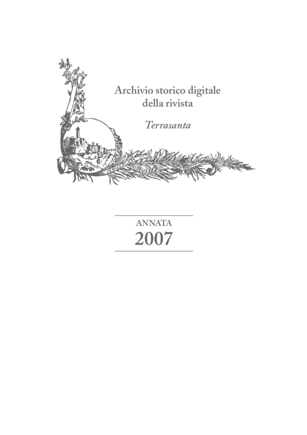 Terrasanta – annata 2007