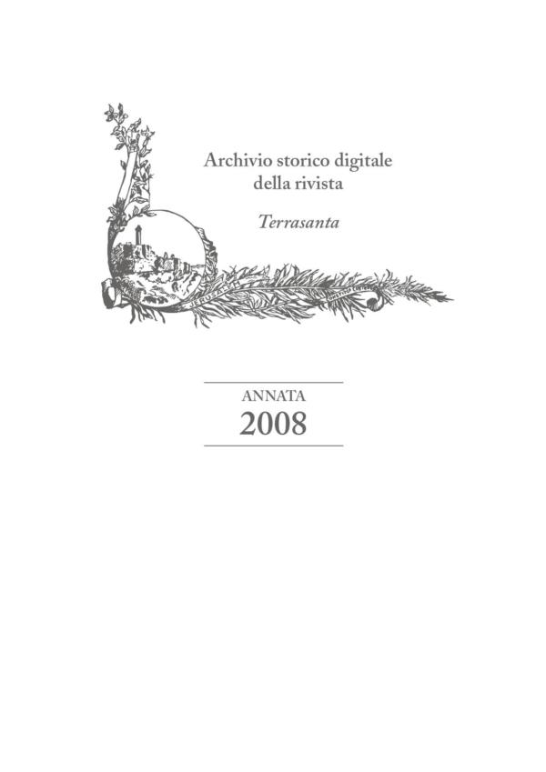 Terrasanta – annata 2008