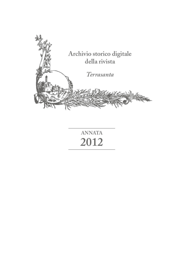 Terrasanta – annata 2012
