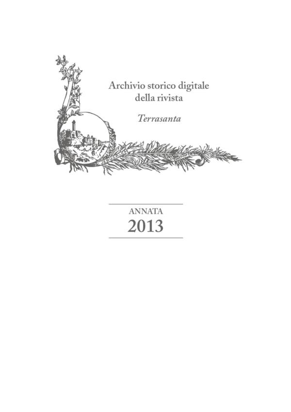 Terrasanta – annata 2013