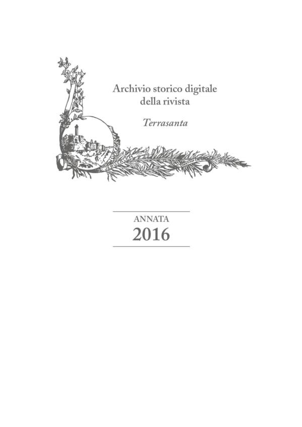 Terrasanta – annata 2016